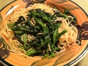 pasta:brocoli-rabe close up