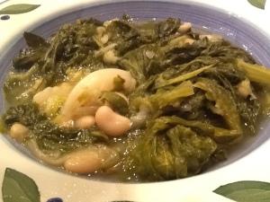 bowl of minestra close-up