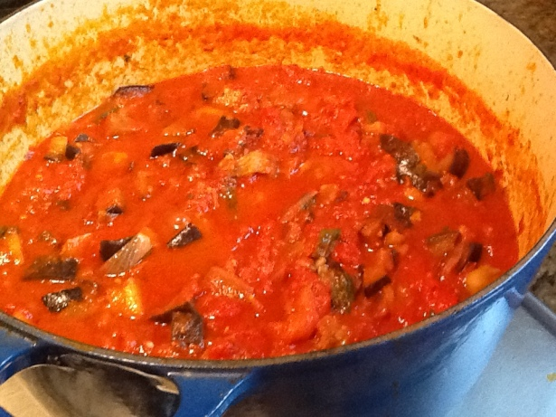 eggplant sauce cooked