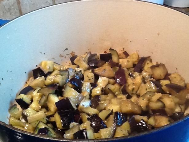 eggplant sauce:saute
