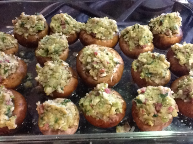 kathi's stuffed mushrooms stuffed