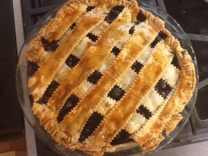 blueberry pie baked