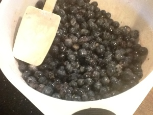blueberry pie berries mixed