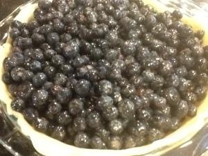 blueberry pie crust:berries