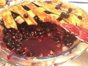 blueberry pie cut