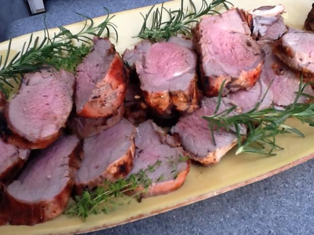 barefoot pork sliced close up**