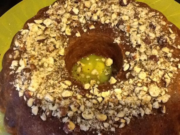 lemon cake dish closeup