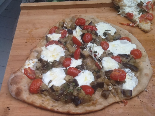 pizza eggplant cooked