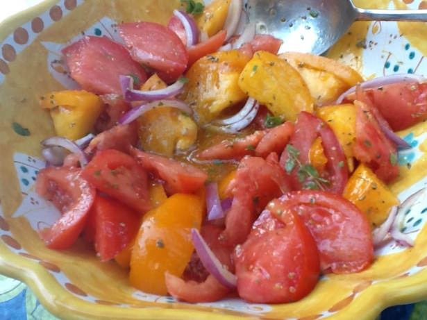 tomato salad:onion closeup2