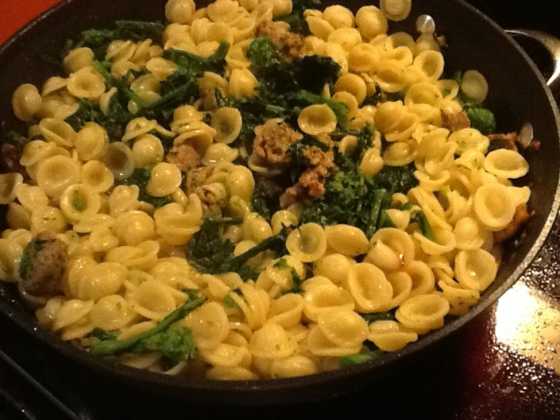 orecchiette all in pan