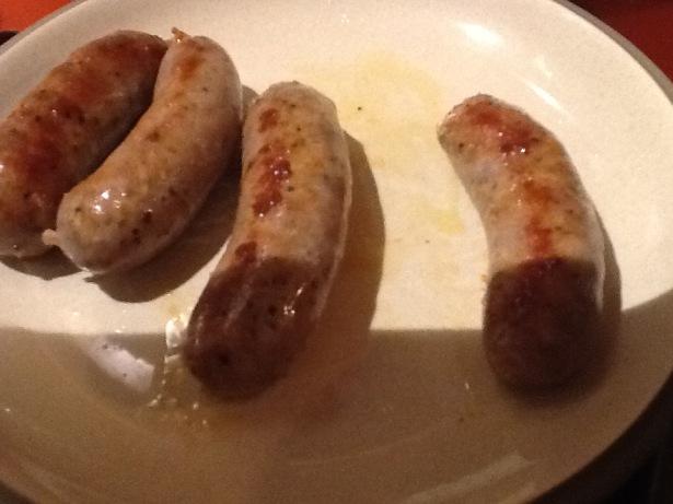 orecchiette sausage browned