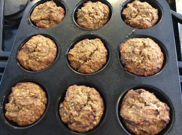flourless muffins baked