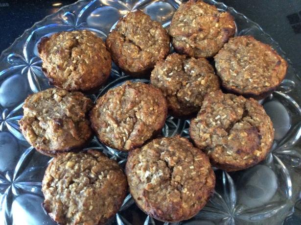 flourless muffins plated *
