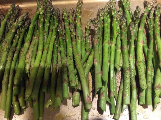 asparagus pan closeup