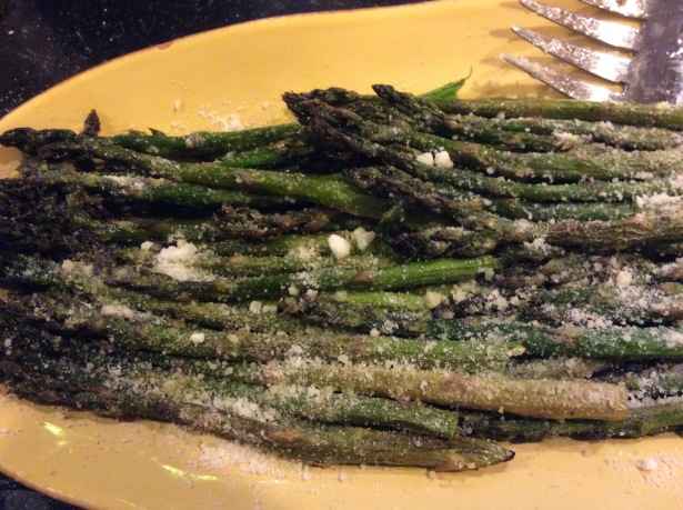asparagus plated closeup*