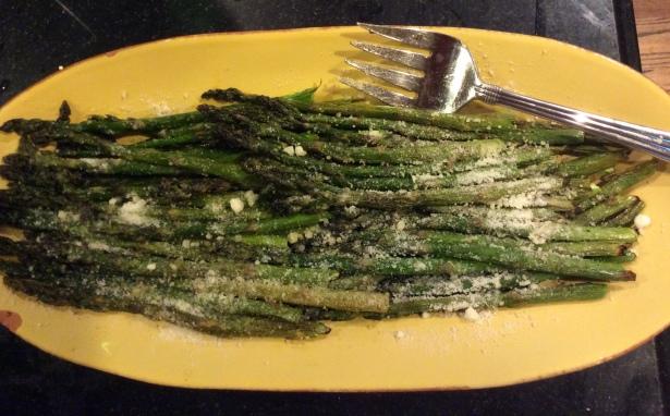 asparagus plated