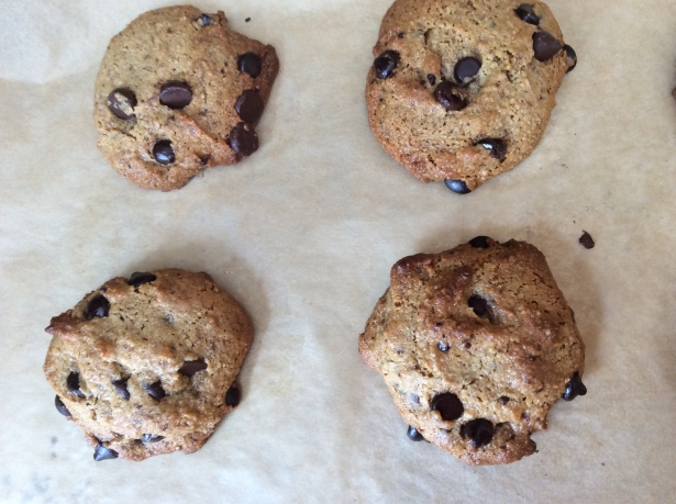CC cookies baked closeup