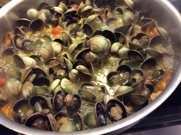 clam sauce cooking 2