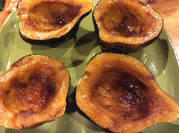 acorn squash plated closeup