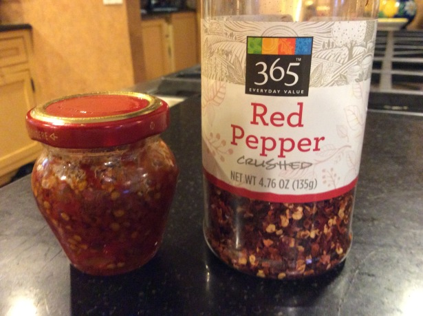 oil and garlic red pepper