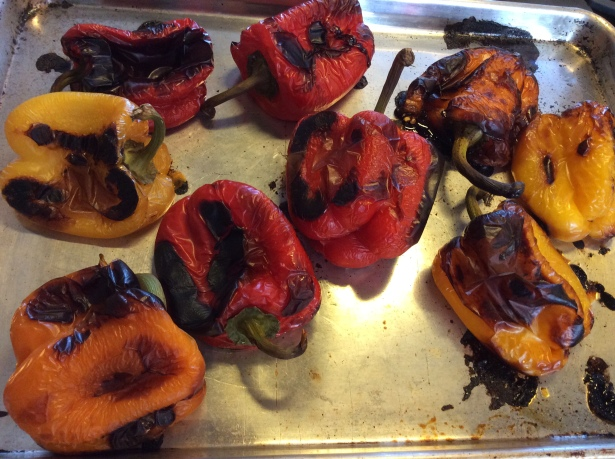peppers pan closeup