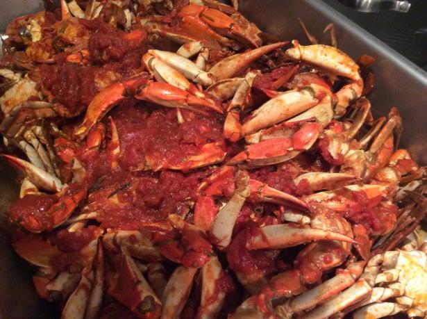 crab sauce pan 1