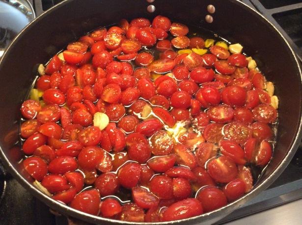 dandelions tomatoe:garlic