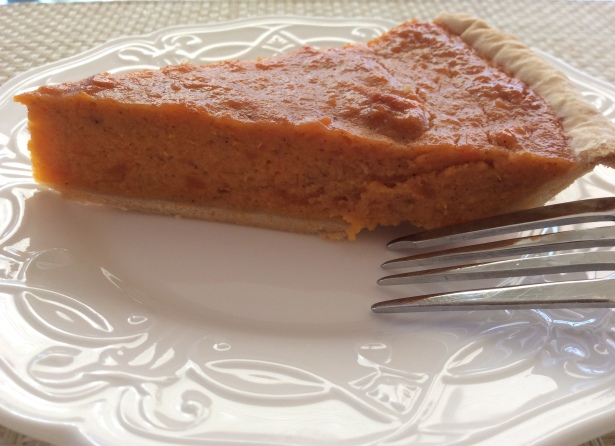 sweet potato pie closeup