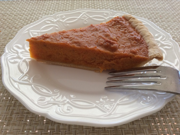 sweet potato pie plated*