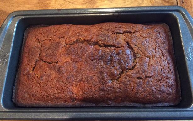 date:nut loaf pan baked
