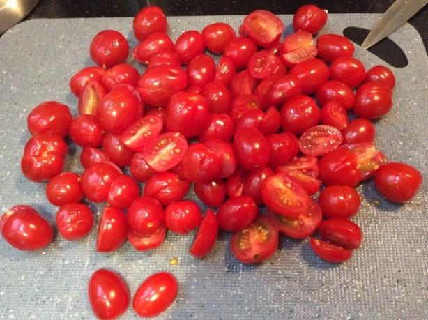 Bev's salmon tomatoes