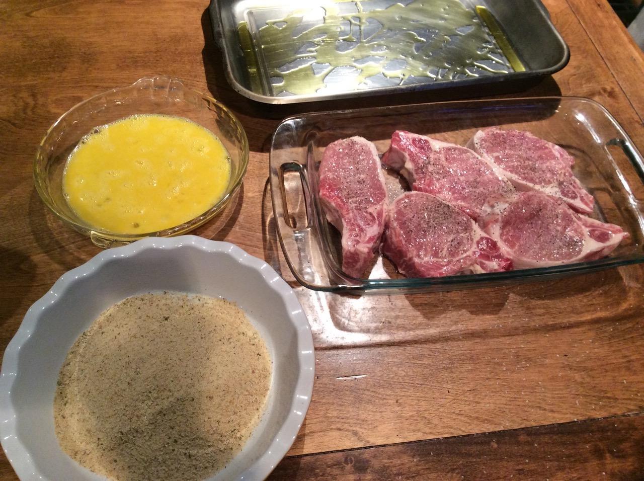 pork chops prep