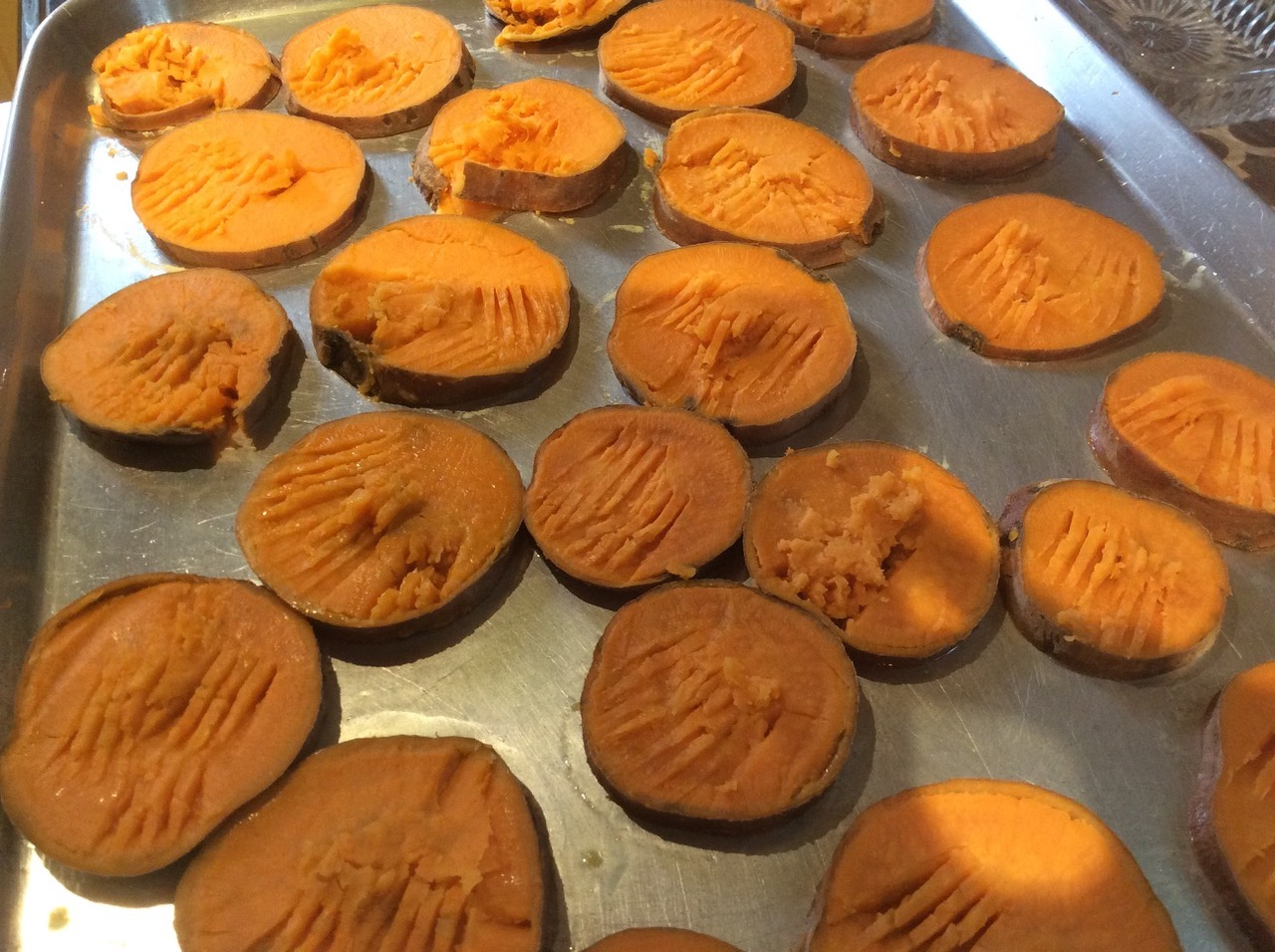 B sweet potato slices pan2
