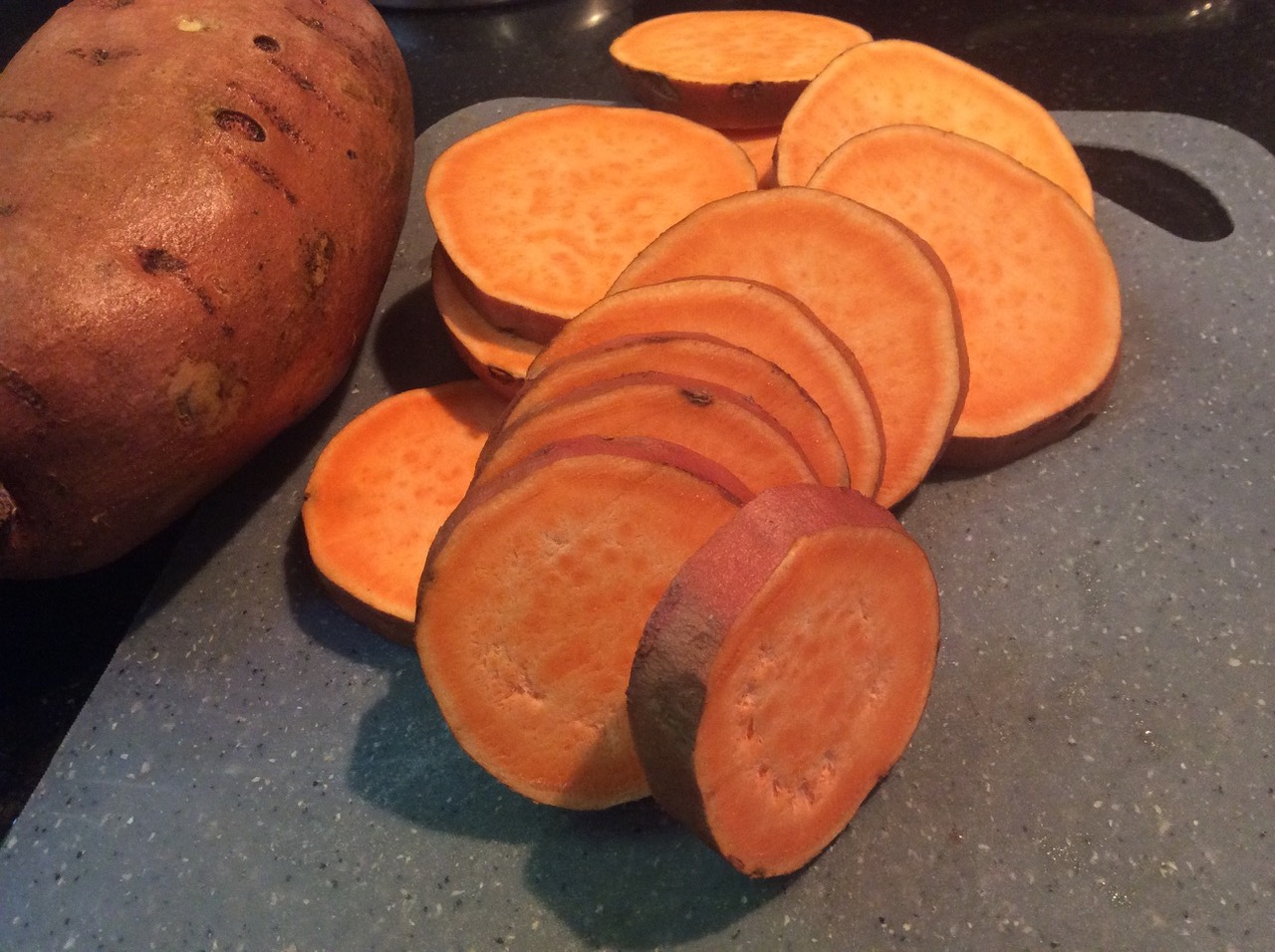 B sweet potato slices